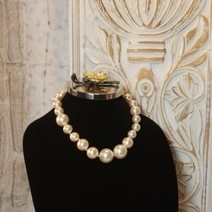 Gorgeous Hand Knotted Large Pearl Necklace